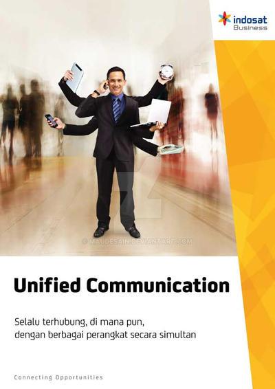 Flyer Indosat Unified Communication by maudesain