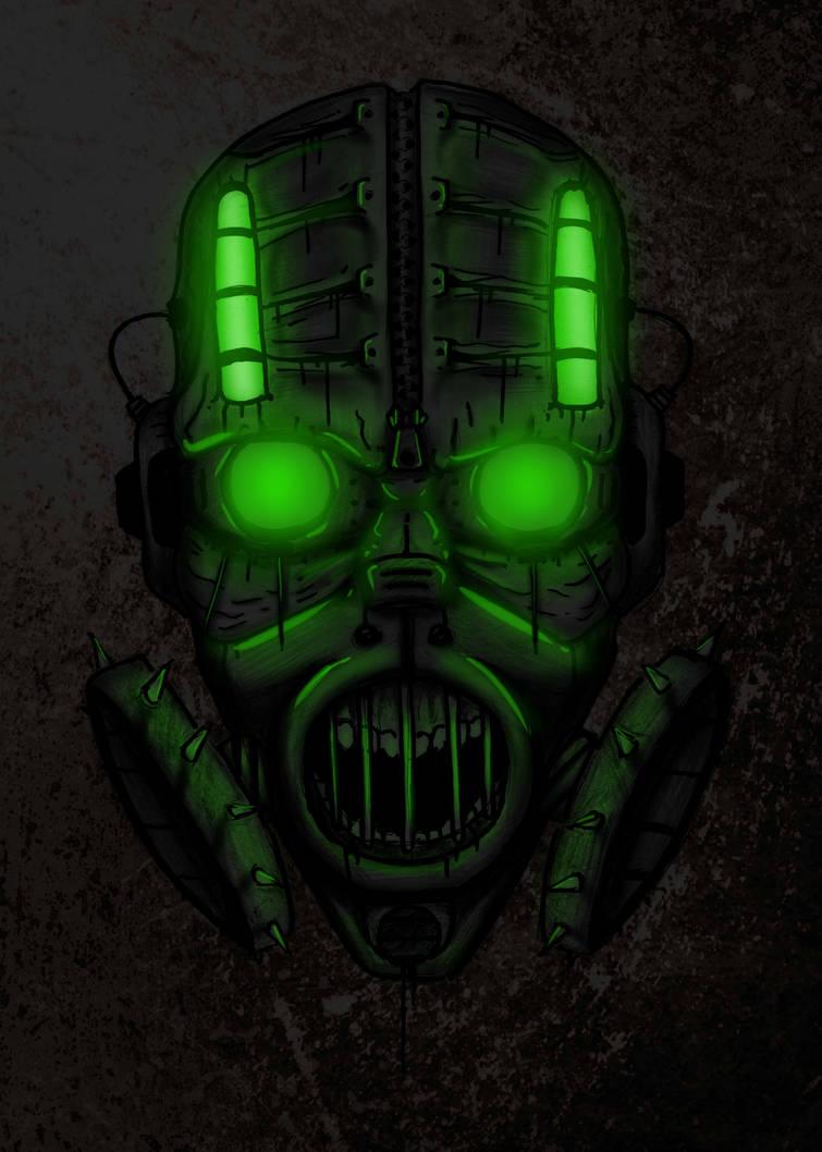 Gasmask scream by VeedMEDIC