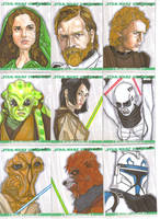 Clone Wars sketch cards 1 by NORVANDELL