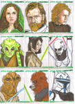 Clone Wars sketch cards 1