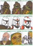 Clone Wars sketch cards 3