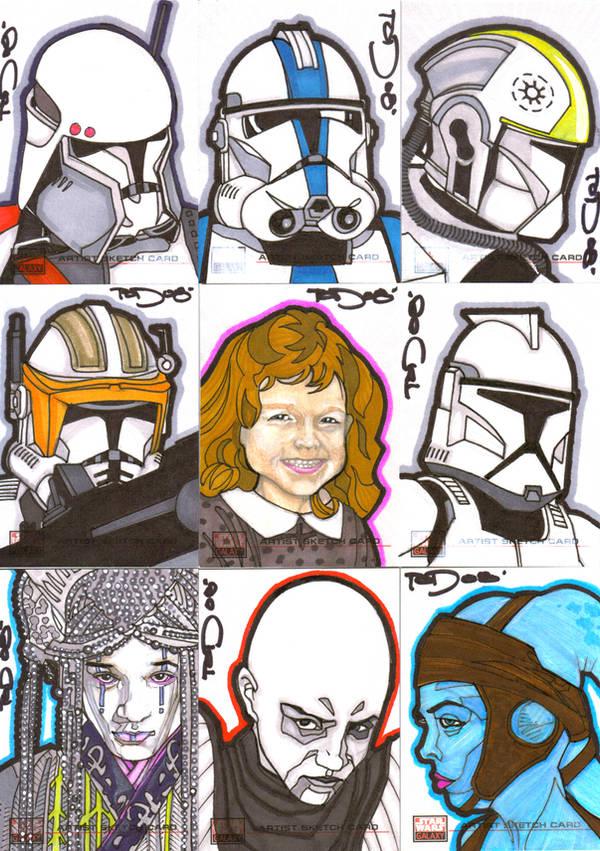 Star Wars Galaxy 4 Batch 1 by NORVANDELL