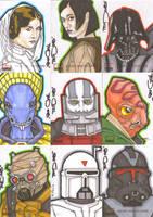 Star Wars Galaxy 4 Batch 2 by NORVANDELL