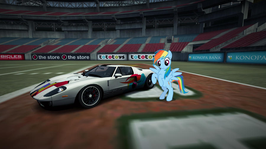 Rainbow Dashs Ford Gt By Nfsxmlp