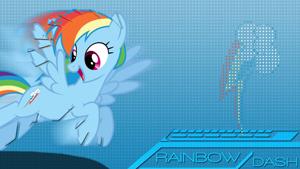 Mane6set: Rainbowdash by B1itzsturm