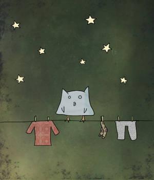 En la noche, en el tendedero by chibizumi