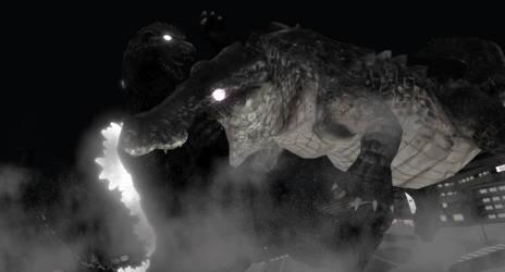 Ghost Godzilla vs Grimmgarl