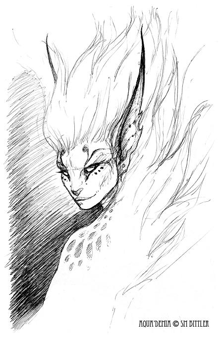 Pen Sketchbook - Aqua'Demia by synnabar
