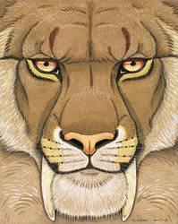 Prehistoric Series - Smilodon by synnabar