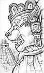 Pen Sketchbook - Tezcatli IV by synnabar