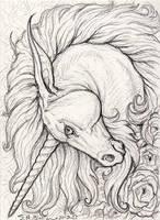 ACEO - Unicorn by synnabar