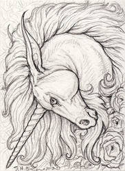 ACEO - Unicorn by synnabar