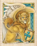 Winged Lion (Beasts of Yore) by synnabar