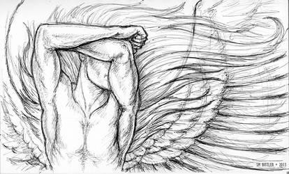 Inktober - Angels Losing Sleep