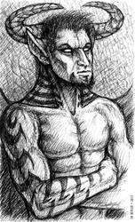 Inktober - Devil Dude by synnabar