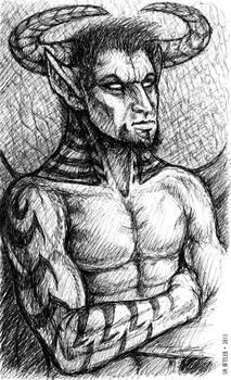 Inktober - Devil Dude
