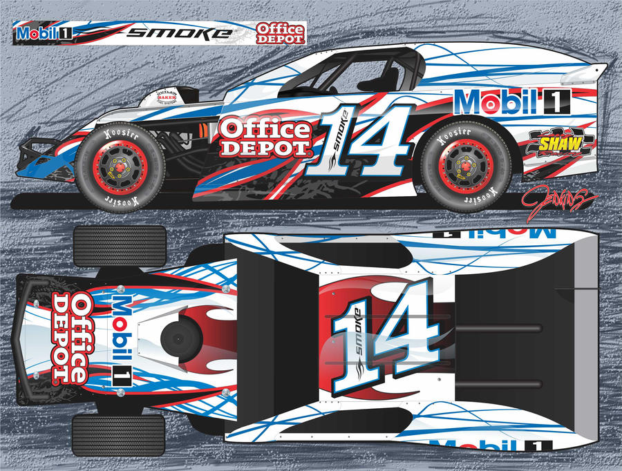 race car graphic design templates - stewart modified 2012 by jenkins graphics on deviantart