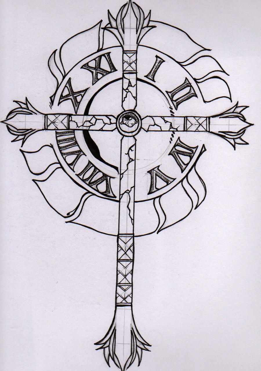 timepiece tattoo design by