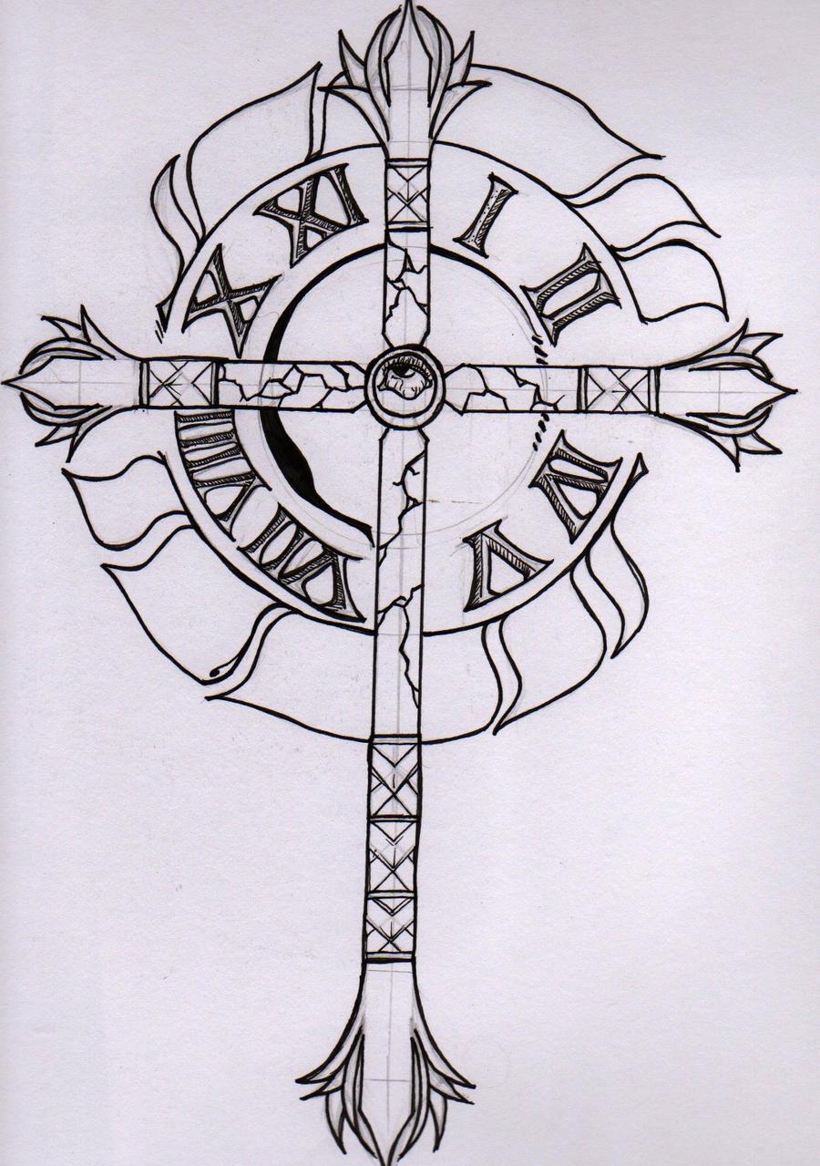 timepiece tattoo design by grimmpierre on deviantart. Black Bedroom Furniture Sets. Home Design Ideas