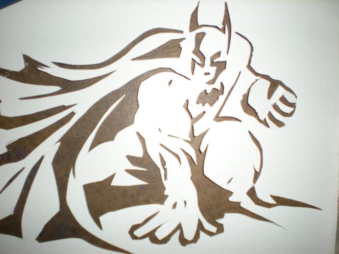 batman stencil cutout by juturn al on deviantart