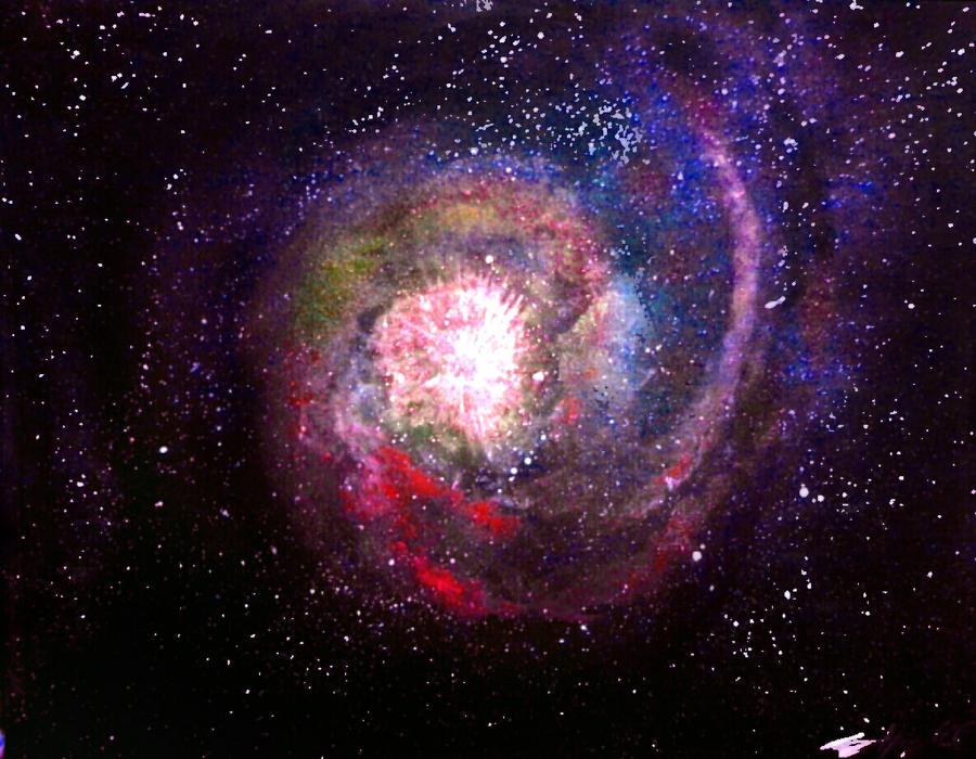 Crimson-Cobalt Centrifuge Nebula by Defiant2Death