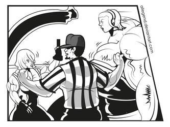 W.I.P. Delia C. Vs Feno1: Muscles Madness by allegend