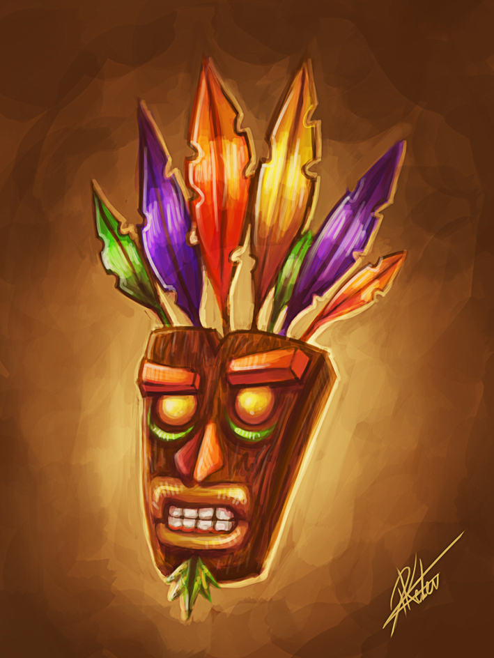 Crash Bandicoot Mask - Sketch by ARTdesk