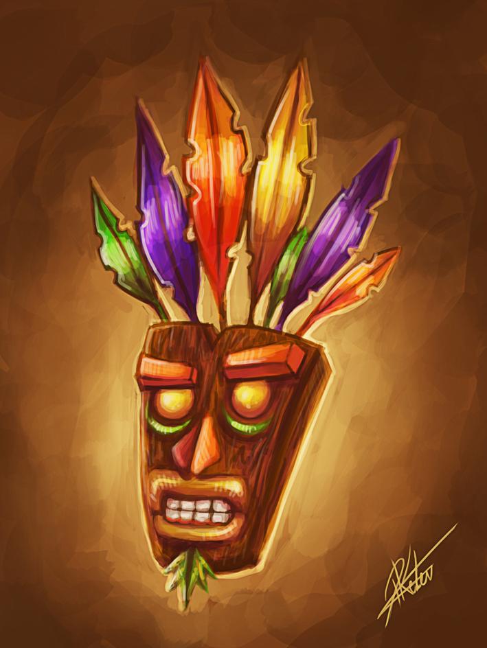 Crash Bandicoot Mask - Sketch by ARTdesk