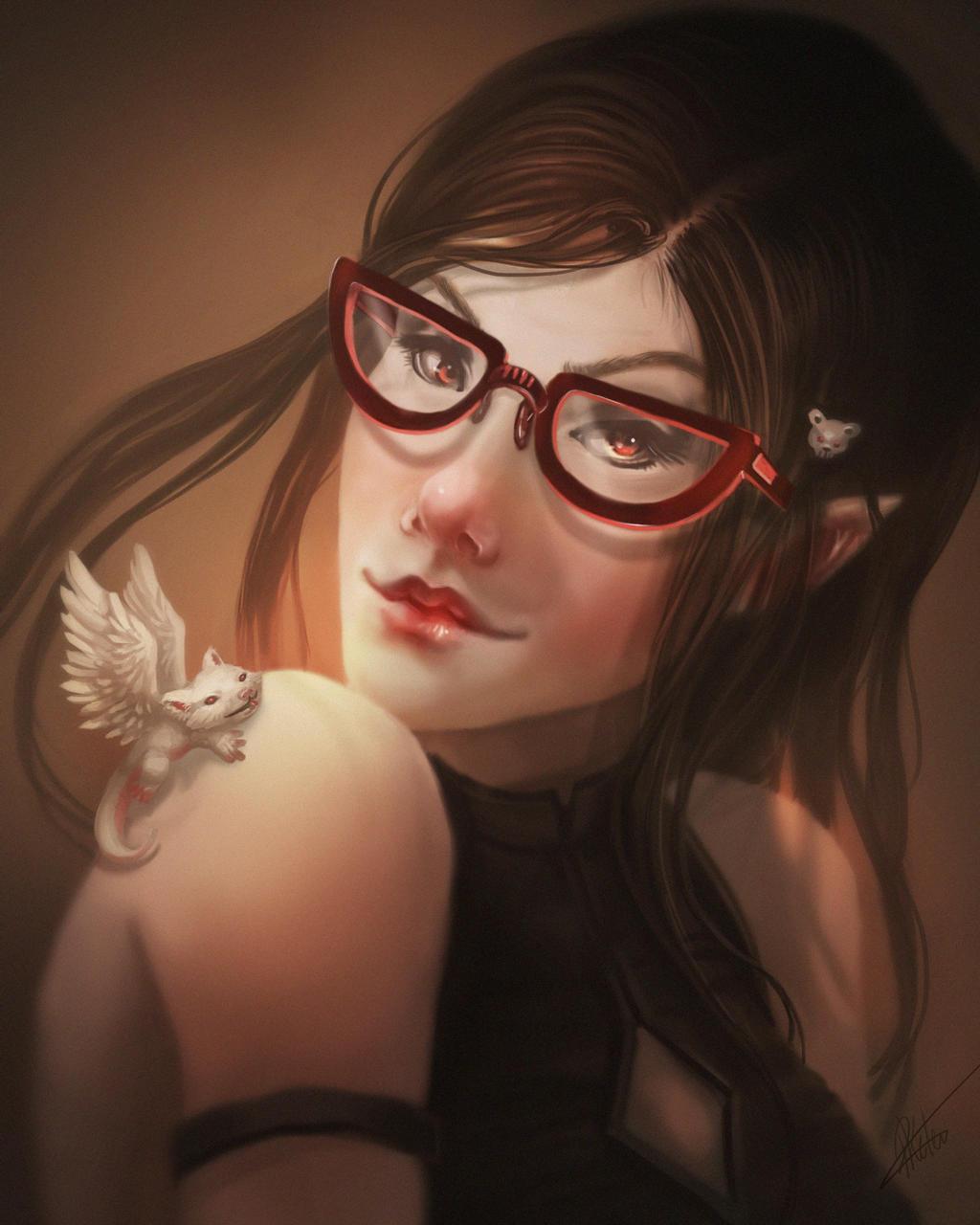 Glasses Girl by ARTdesk