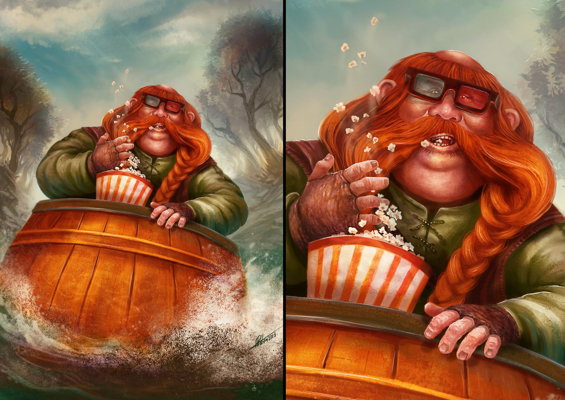 Fanart of Bombur - Hobbit by ARTdesk