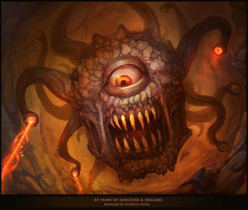 Group of Beholder Monster Wallpaper
