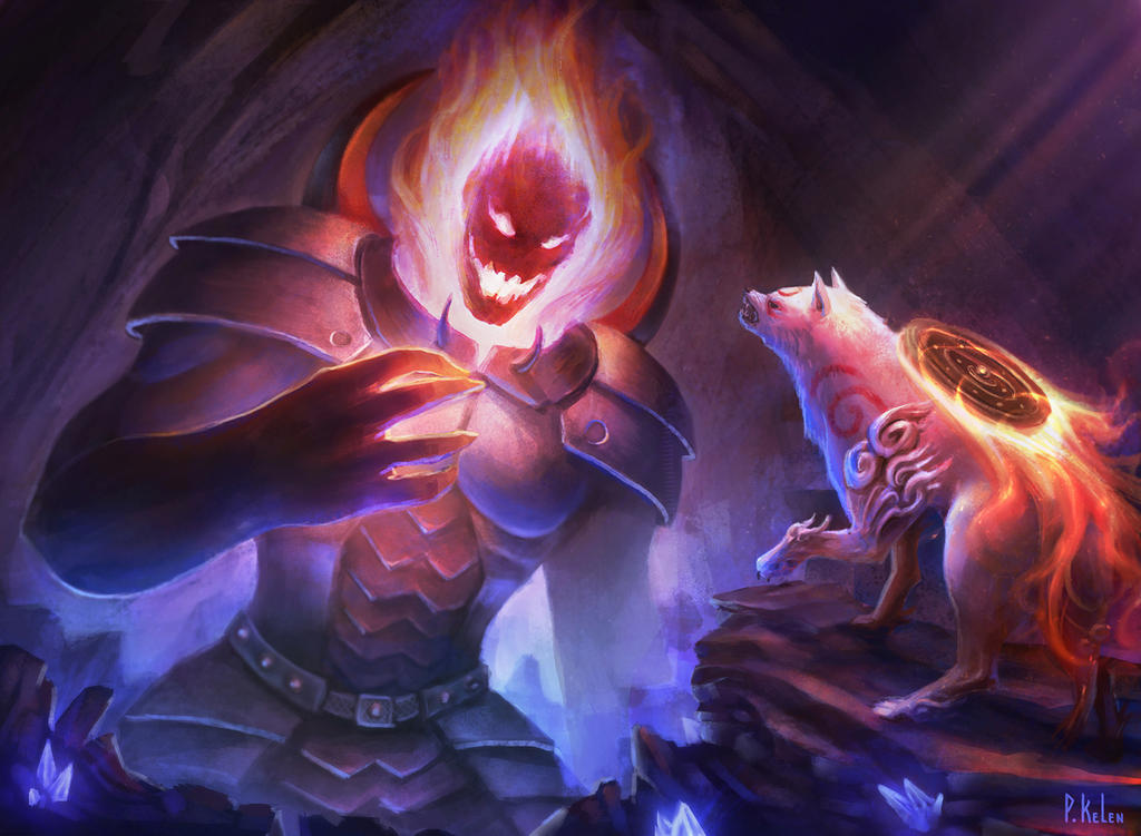 Amaterasu vs Dormammu - Marvel vs Capcom fanart by ARTdesk