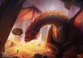 Smaug and Bilbo Talk by ARTdesk