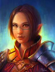 Elf Warrior - Self Portrait v.2 by ARTdesk