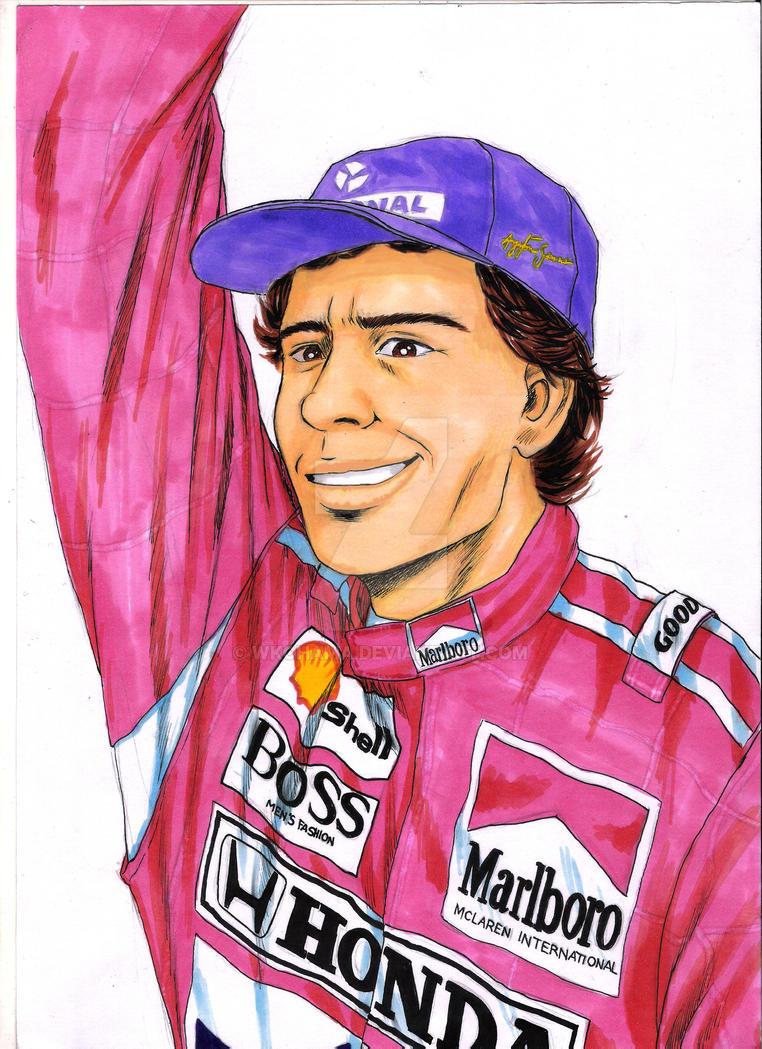 Ayrton Senna Gekiga Style by wkohama