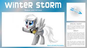 MY PONY - Winter Storm by ReignBeaux-XIII