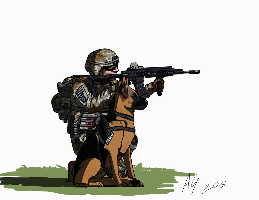 US Army dog handler by AviatorGriffin on DeviantArt