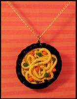 Bowl O' Noodles -- Necklace by poketheyolk