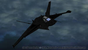 Arkham Origins Batwing By Night 03