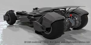 Batmobile Batman v Superman 06 Rear 3Q