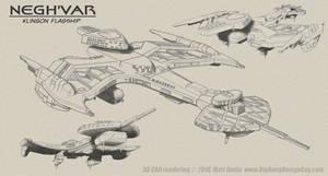 Negh'Var Klingon Battleship Composite