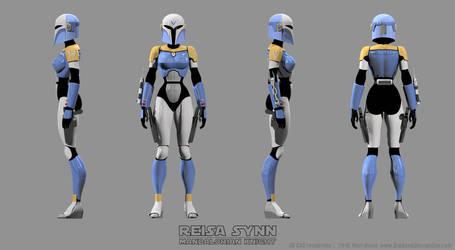 Female Mandalorian Armor - Reisa Turnaround Color