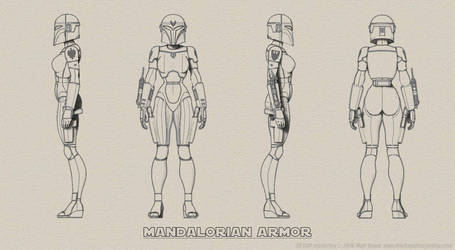 Female Mandalorian Armor Turnaround