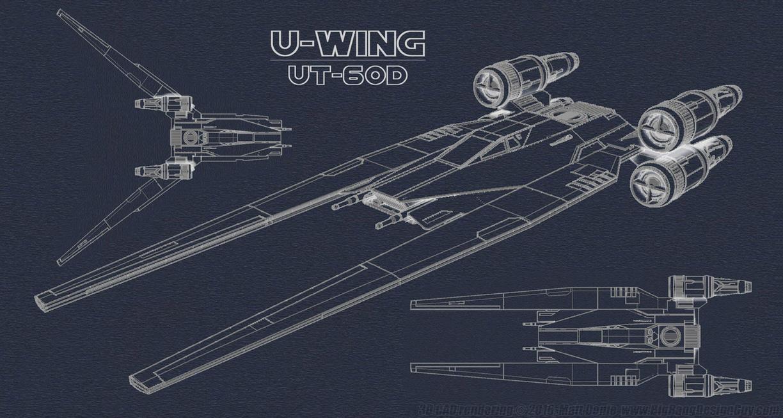 U-Wing UT-60D Blueprint-style Image by Ravendeviant on ... Raven