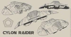Cylon Raider - Sketch Composite