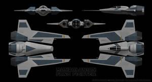 Mandalorian Fang Fighter Schematics 01 by Ravendeviant