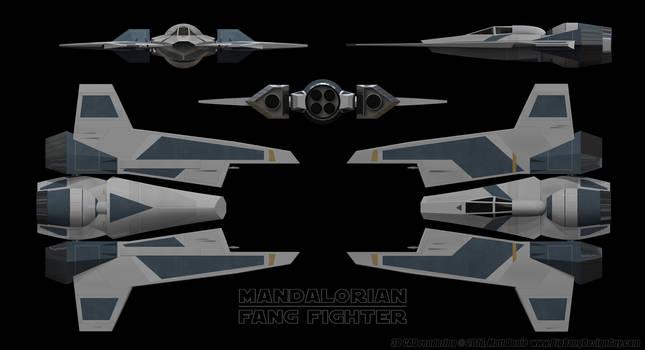 Mandalorian Fang Fighter Schematics 01