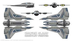 Kom'rk Class Gauntlet Fighter - Schematics by Ravendeviant