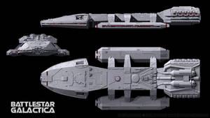 Battlestar Galactica 3-View Schematics