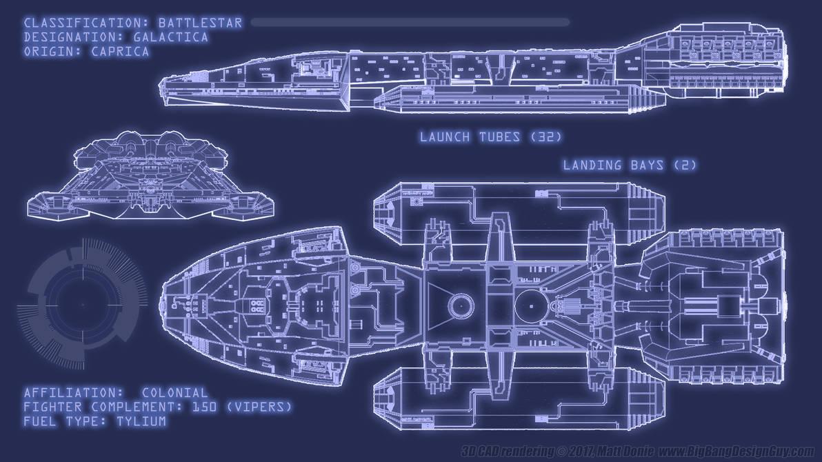 Battlestar Galactica Blueprints By Ravendeviant On Deviantart